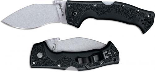 Cold Steel Rajah 3 62JM Knife Andrew Demko AUS 10A Kukri Style Black Griv-Ex Tri-Ad Lock Folder