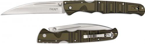 Cold Steel Frenzy I 62PV1 Knife Andrew Demko Wharncliffe Green Black G10 Locking Folder