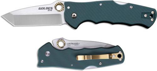 Cold Steel Golden Eye 62QFGT Knife Andrew Demko Tanto EDC HTR Opener Locking Folder