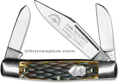 Eye Brand Knives: Eye Brand Stockman Knife, Bone Handle, EB-350