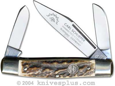 Eye Brand Knives: Eye Brand Stockman Knife, Stag Handle, EB-350DS