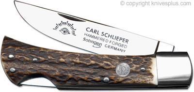 Eye Brand Knives: Eye Brand Locking Sod Buster Knife, Stag, EB-99DSL