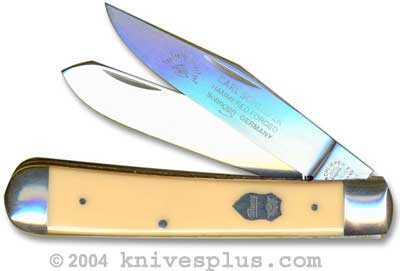 Eye Brand Knives: Eye Brand Trapper Knife, Yellow Handle, EB-JY