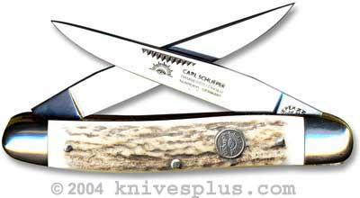 Eye Brand Knives: Eye Brand Muskrat Knife, Stag Handle, EB-MDS