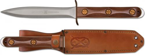 Ek EK13 Commando Presentation Knife Stainless Steel Double Edge Fixed Blade Walnut Handle USA Made
