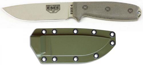 ESEE Knives ESEE-4P-DT Desert Tan Drop Point - Micarta Handle - OD Molded Sheath