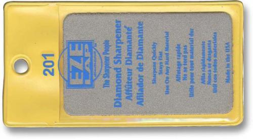 EZE-LAP Knife Sharpener: EZE-LAP Diamond Knife Sharpener, Credit Card, EZ-201