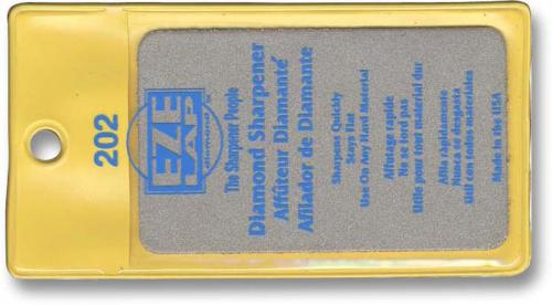 EZE-LAP Knife Sharpener: EZE-LAP Medium Credit Card Size Diamond Knife Sharpener, EZ-202