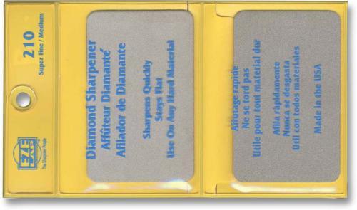 EZE-LAP Knife Sharpener: EZE-LAP Credit Card Diamond Knife Sharpener Set, EZ-210