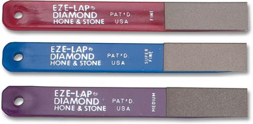 EZE-LAP Knife Sharpener: EZE-LAP Hone and Stone Diamond Knife Sharpener Set, EZ-LPAK