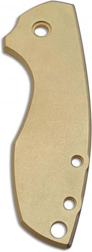 Flytanium Custom Brass Scale for CRKT Pilar 5311 Knife - Antique Stonewash Finish