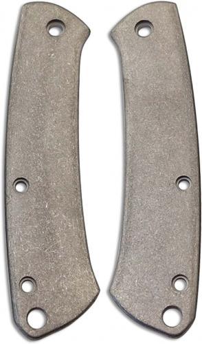 Flytanium Custom Titanium Scales for Benchmade Proper Knife - Stonewash Finish