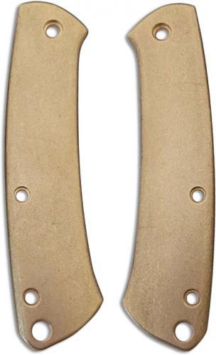 Flytanium Custom Brass Scales for Benchmade Proper Knife - Stonewash Finish