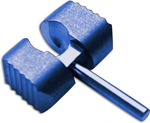 Flytanium Custom Titanium Ball Cage Lock for Spyderco Manix 2 G10 Knife - Blue Anodized Finish