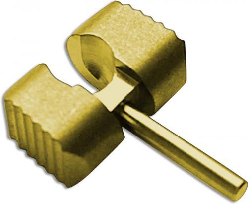 Flytanium Custom Titanium Ball Cage Lock for Spyderco Manix 2 G10 Knife - Gold Anodized Finish