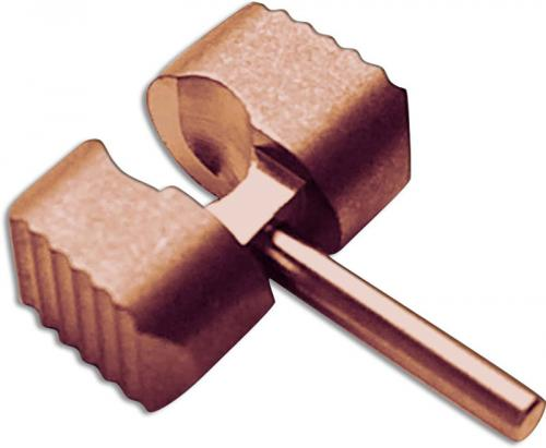 Flytanium Custom Copper Ball Cage Lock for Spyderco Manix 2 G10 Knife - Antique Stonewash