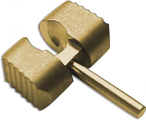 Flytanium Custom Brass Ball Cage Lock for Spyderco Manix 2 G10 Knife - Antique Stonewash