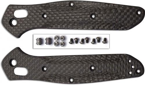 Flytanium Custom Carbon Fiber Handle Kit for Benchmade 940 Osborne Knife - Black Basketweave