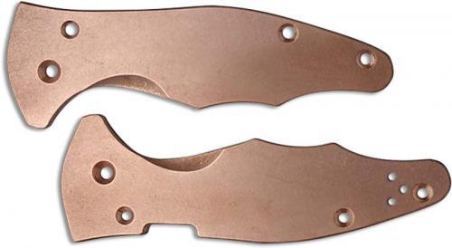 Flytanium Custom Copper Scales for Spyderco Yojimbo 2 Knife - Antique Stonewash Finish