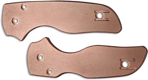 Flytanium Custom Copper Scales for Spyderco Lil Native Knife - Antique Stonewash Finish