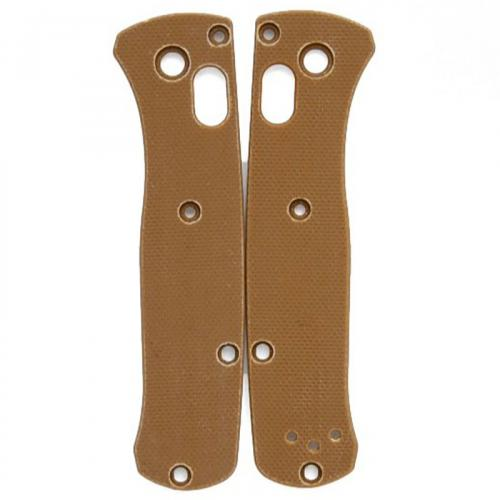 Flytanium Custom G10 Scales for Benchmade Mini Bugout Knife - Tan