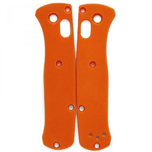 Flytanium Custom G10 Scales for Benchmade Mini Bugout Knife - Orange