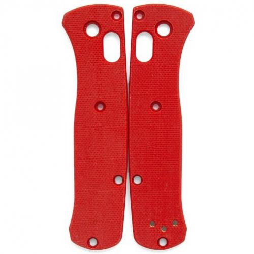 Flytanium Custom G10 Scales for Benchmade Mini Bugout Knife - Red