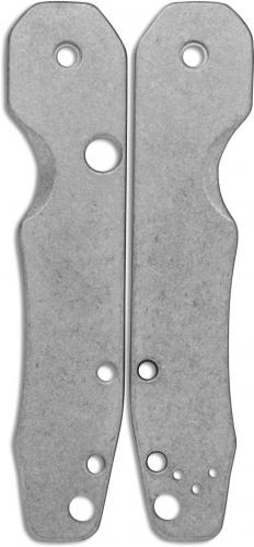 Flytanium Custom Titanium Scales for Spyderco Smock Knife - Stonewash Finish