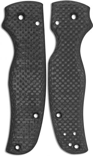 Flytanium Custom Carbon Fiber Scales for Spyderco Shaman Knife - Matte Finish