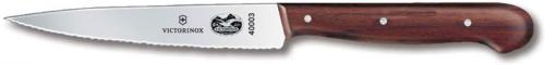 Forschner Steak Knife, Rosewood Wavy Sharp Tip, FO-40003