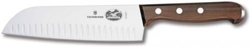 Forschner Knives: Forschner Santoku Knife, Rosewood Handle Granton Edge, FO-41527