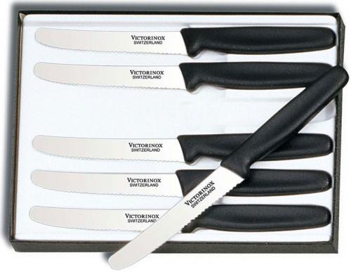 Forschner Steak Knife Set, Nylon Wavy, FO-47558