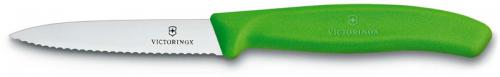 Victorinox Paring Knife 6.7636.L114, 3.25 Inch Serrated Blade with Green Nylon Handle