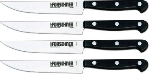 Victorinox Classic Steak Knife Set 7.6029.41, Part Serrated Blade with Black Handle, Set of 4