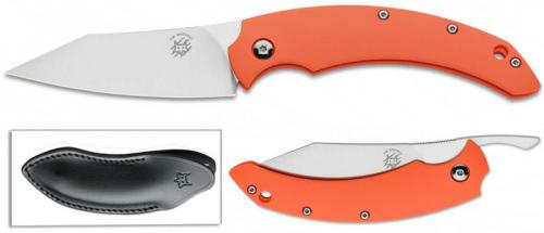Fox Compact Dragotac FX-518 O Knife Orange FRN Non Locking Folder Made In Italy