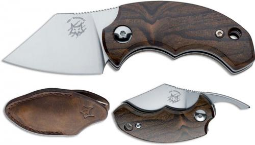 Fox Knives Dragotac BB Ziricote FX-519 ZW Knife Ziricote Wood Non Locking Folder Made In Italy