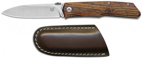 Fox Knives Terzuola FX-525 B Bob Terzuola Drop Point Bocote Wood Liner Lock Folder
