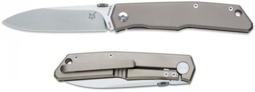 Fox Terzuola Titan FX-525TI Knife Titanium Frame Lock Folder Made In Italy