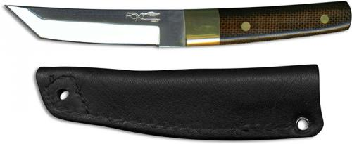 Fox Knives 631 Mini Tanto Fixed Blade Letter Opener Knife Canvas Micarta Made In Italy