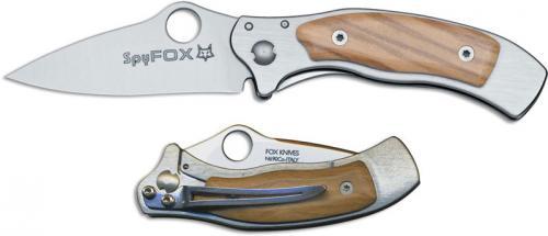 Fox Knives Spy-Fox SPY-2 OL Spyderco Collaboration EDC Olive Wood Frame Lock Folder Made In Italy