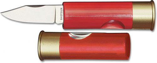 Hallmark Cutlery: Hallmark 12 Gauge Shotgun Shell Knife, Red, HM-181R