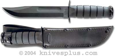 KA-1211, KA-BAR Black USMC Utility, Plain Edge, Leather