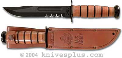 KA-1219, KA-BAR Fighting/Utility, US Army, Part Serrated