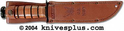 KA-BAR Knives: KABAR Leather US Navy Marked Replacement Sheath, KA-1225S