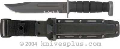 KA-BAR Knives: KABAR D2 Extreme Fighting-Utility Knife with Synthetic Sheath, KA-1282