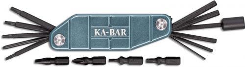 KABAR Gun Tool 1308 - Multi Tool - Aquamarine Aluminum - Magnetic Bit Storage
