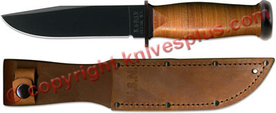 KABAR Mark I Knife, Leather Handle, KA-2225