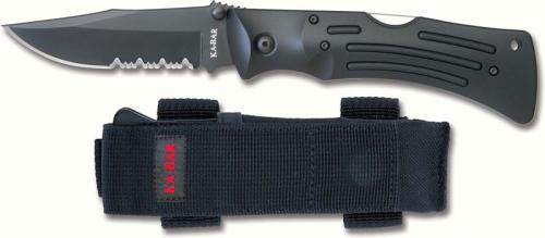 KA-BAR Knives: KABAR Mule Knife, Part Serrated, KA-3051