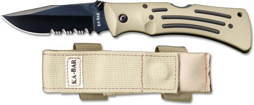 KA-BAR Knives: KABAR Desert Mule Knife, Part Serrated, KA-3053
