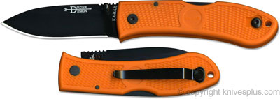 KA-BAR Knives: KABAR Dozier Folding Hunter, Orange Handle, KA-4062BO